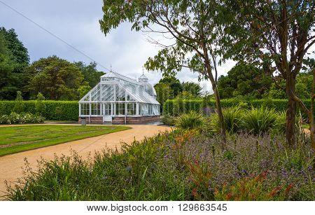 Dublin Ireland - August 2 2013: The Victoria green house in the Malahide garden