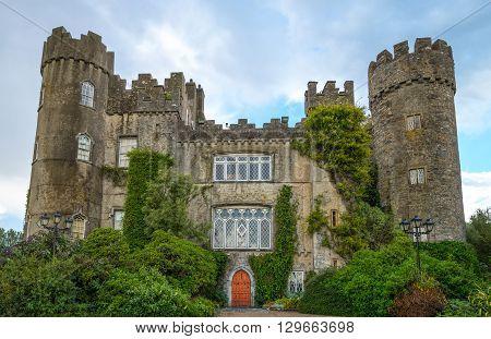 Dublin Ireland - August 2 2013: The Malahide castle and garden
