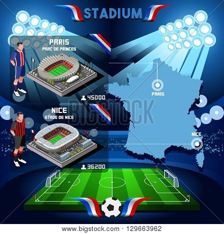 France stadium infographic Paris Parc de Prince. Frances and Stade de Nice stadium Icon. France stadium Jpg Jpeg. France stadium illustration. France stadium drawing. France stadium vector Eps object.