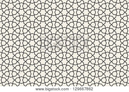 Abstract Seamless Geometric Islamic Wallpaper Pattern