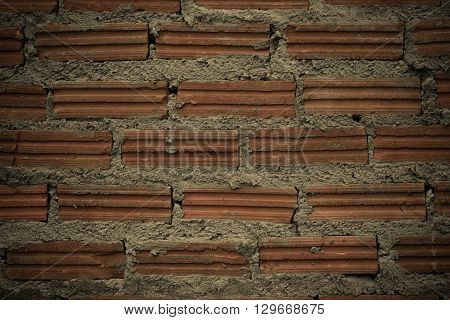 Red Brick Wall Texture Surface Vintage Style
