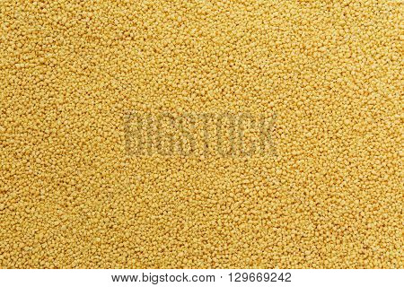 Fresh Close up Cous cous background, texture. view from top