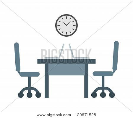 Hard working always on time to work. Time to work vector concept and businessman deadline hour time to work. Time to work office job and worker watch professional work place success management.
