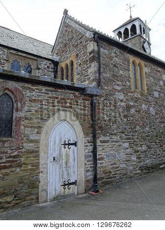 Church Doorway Photographed At Looe In Cornwall