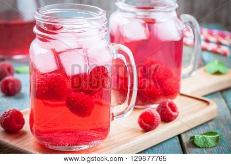 Raspberry Lemonade In Jar