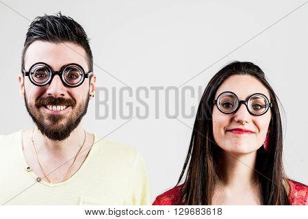 Nerd Couple Made By A Nerd Man And Nerd Woman