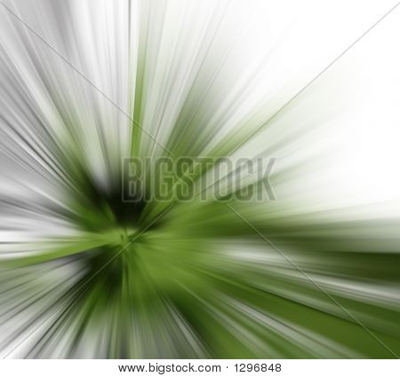 speed & motion abstract background with fresh green color poster