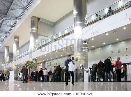 Hall in exhibition center