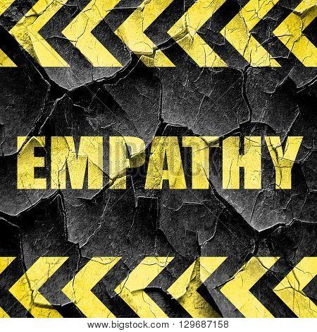empathy, black and yellow rough hazard stripes