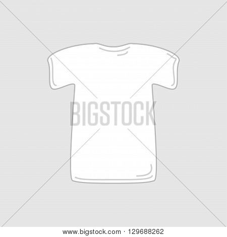 White vector t-shirt for a print or a logo. Isolated t-shirt icon made with no blending or transparency.