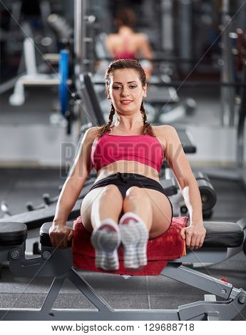Abs Crunches At The Gym
