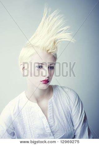 Girl In White Chemise