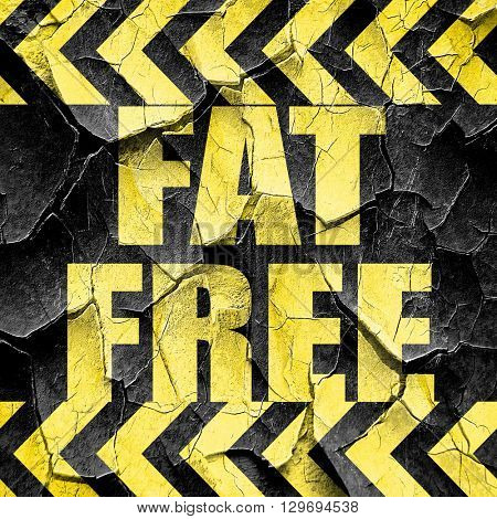 fat free, black and yellow rough hazard stripes