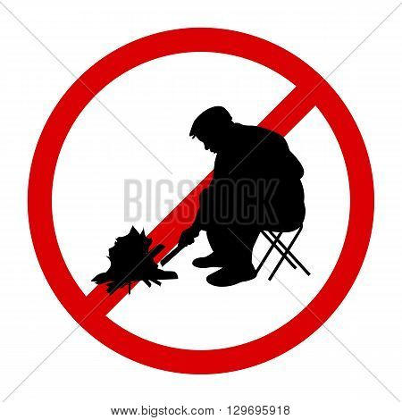 Vector illustration of a prohibition sign Kindle Fire. Isolated on white background.