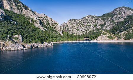 Mediterranean Sea and Mountain Olympos Antalya Turkey
