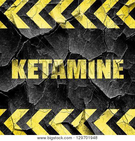 ketamine, black and yellow rough hazard stripes
