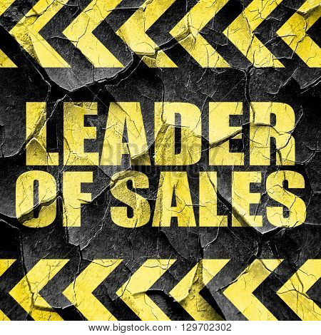 leader of sales, black and yellow rough hazard stripes