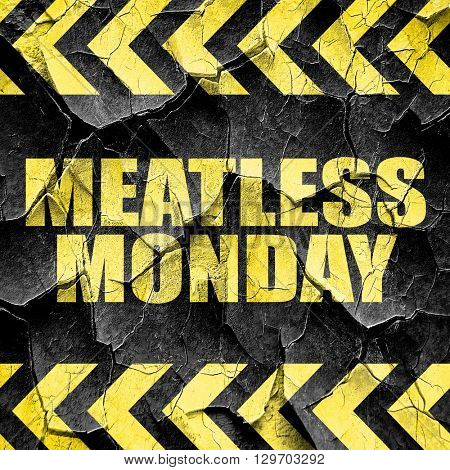 meatless monday, black and yellow rough hazard stripes