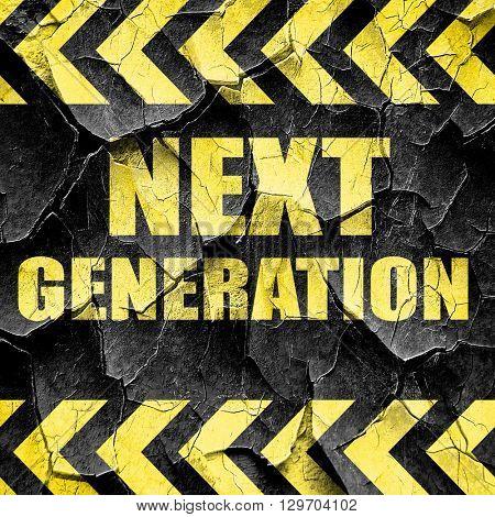 next generation, black and yellow rough hazard stripes