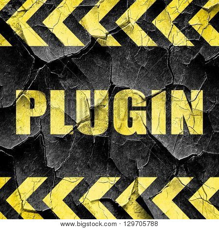 plugin, black and yellow rough hazard stripes