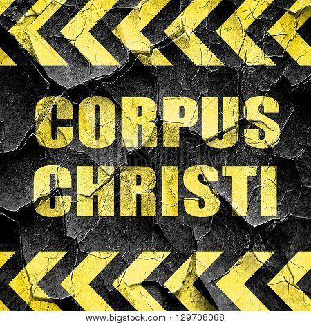corpus christi, black and yellow rough hazard stripes