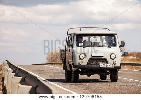 KHABAROVSK RUSSIA - APRIL 28 2016: UAZ