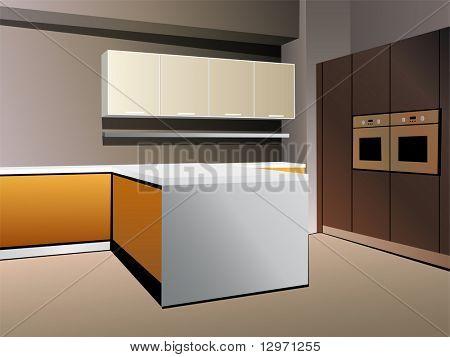 kitchen 7 vector white orange