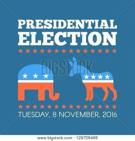 USA presidential election day concept vector illustration.