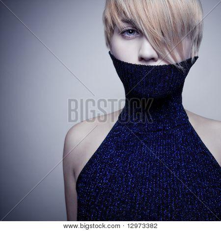 Emotion Blond Girl Face
