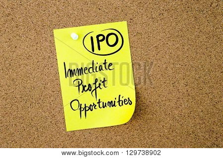 Business Acronym Ipo Immediate Profit Opportunities