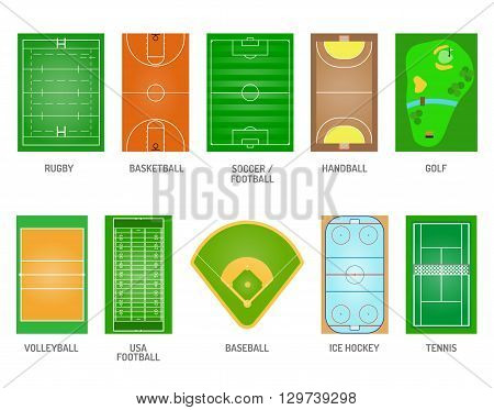 Green grass on golf field. Green grass game football play soccer stadium playing fields. Goal team ball lawn playing fields playing fields and playing fields playground meadow leisure outdoors league.