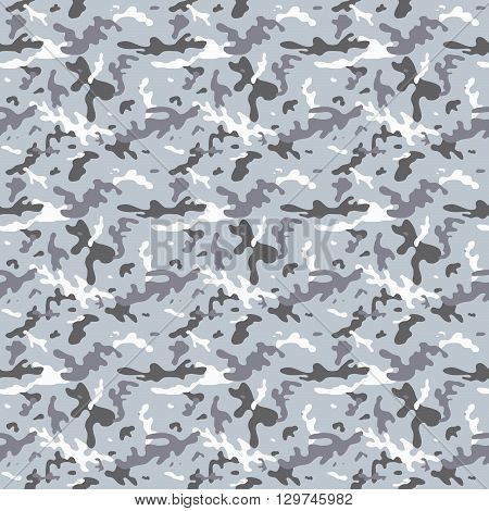 Seamless City Camouflage Pattern
