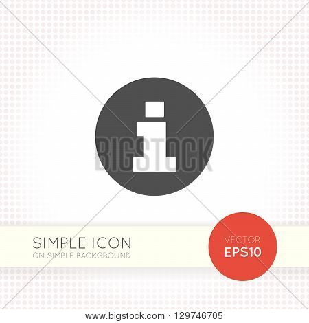 Flat Information symbol. Info sign icon. Info label vector. Info vectror.