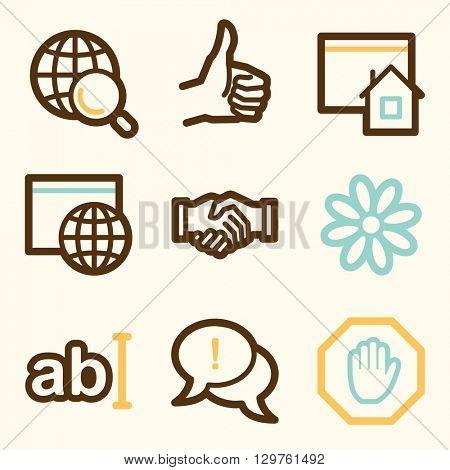 Internet web icons