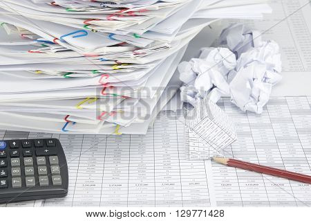 Bankruptcy Of House And Pencil With Blur Paper Ball