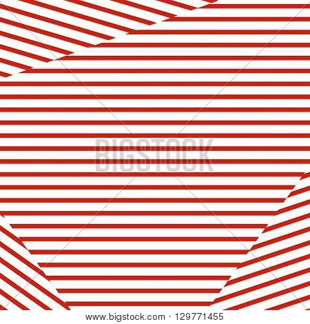 Horizontal and diagonal stripe vector background. Red strips on white background. Red white concept. Simple minimal linear design.