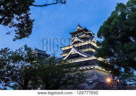 Kumamoto Castle in Kumamoto Kyushu prefecture Japan