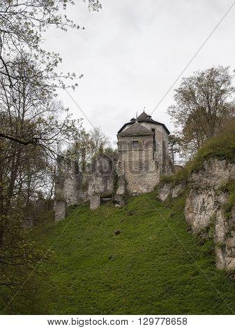 Gothic castle at Ojcow near Krakow in Poland