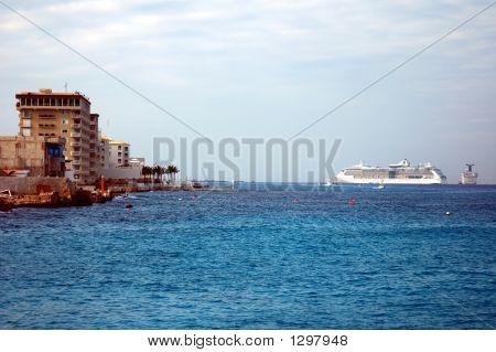 Ships Visit Town