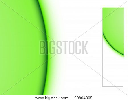 Banners of green lines, abstract green summer background, vector illustration