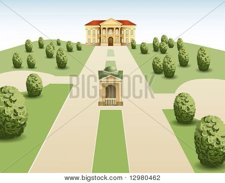 park mansion vector