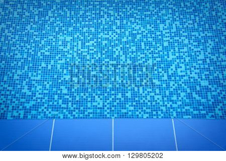 Close up photo of swimming pool at hotel.