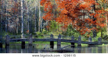 Cobblestone Bridge In Arkansas
