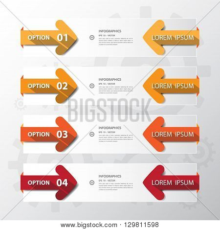 Design Flat Shadow Arrow Banners /graphic Or Website.vector/illustration.