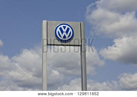 Indianapolis - Circa May 2016: Volkswagen Cars and SUV Dealership. VW is Among the World's Largest Car Manufacturers II