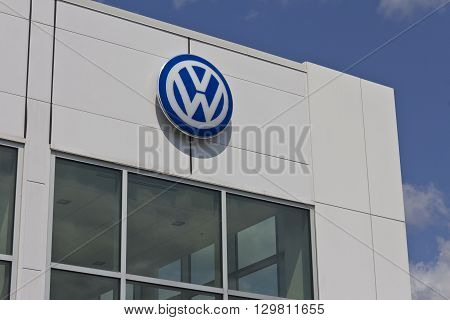 Indianapolis - Circa May 2016: Volkswagen Cars and SUV Dealership. VW is Among the World's Largest Car Manufacturers I