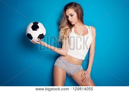 Sexy Fan Of Football.