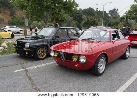Vintage Alfa Romeo Gtv And Renault 5 Turbo Gr4 Bozian On Display