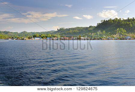 View Of Wakai. Togean Islands. Indonesia.