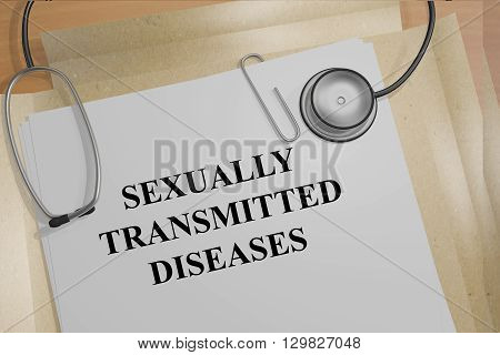 Sexually Transmitted Diseases Medicial Concept